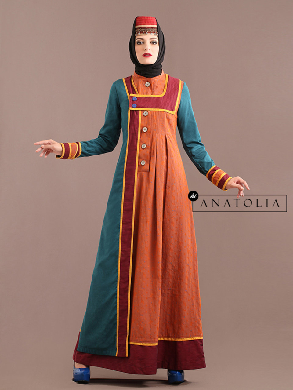 05 Abaya Modern Terracotta