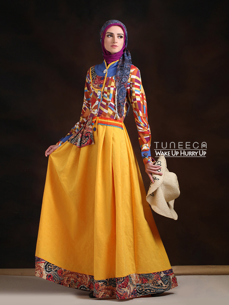07 Long dress muslim motif geometric
