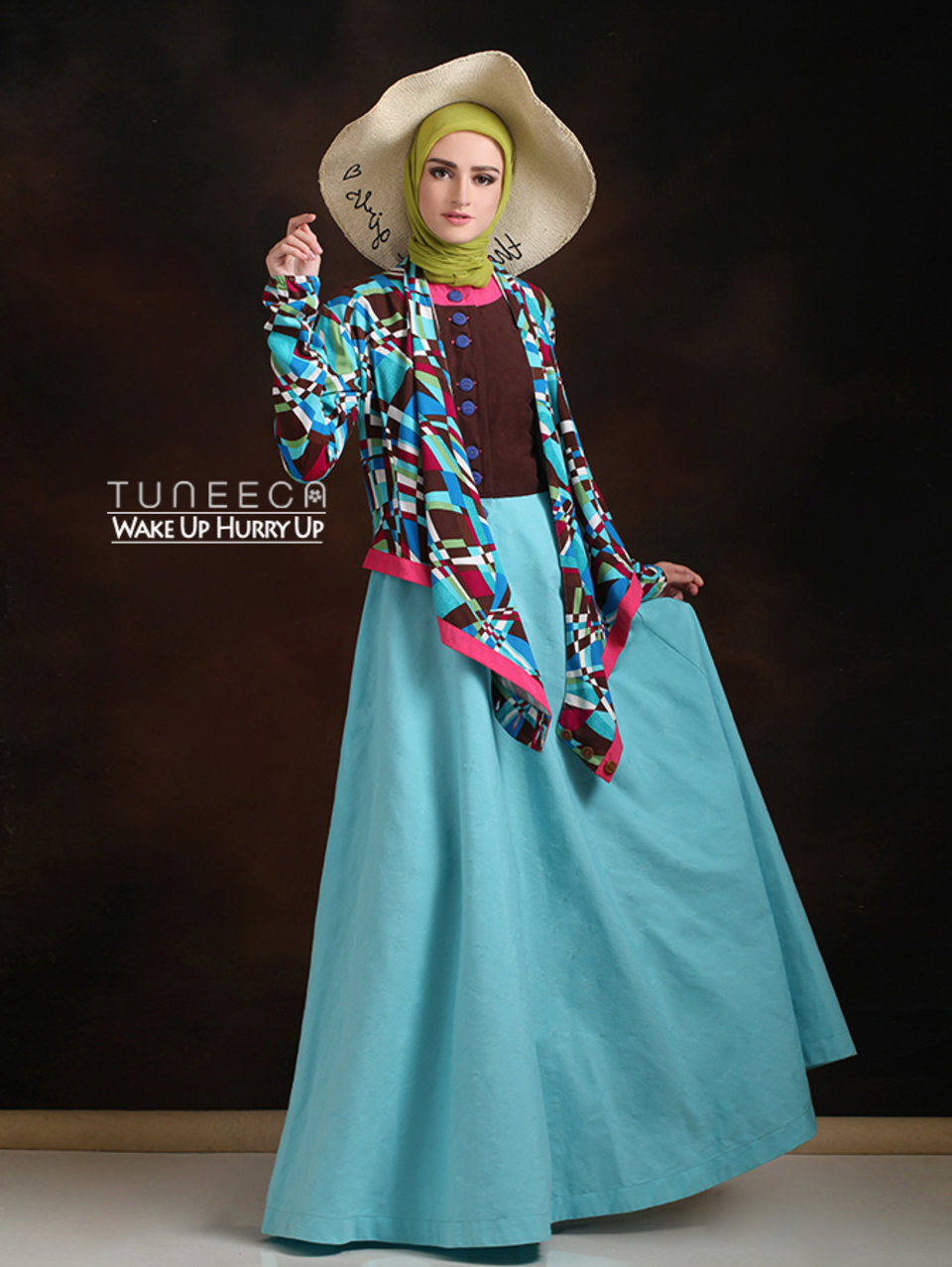 10 baju muslim bohemian style