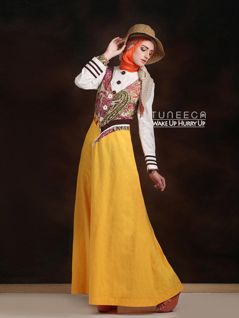 23 long dress muslim kuning