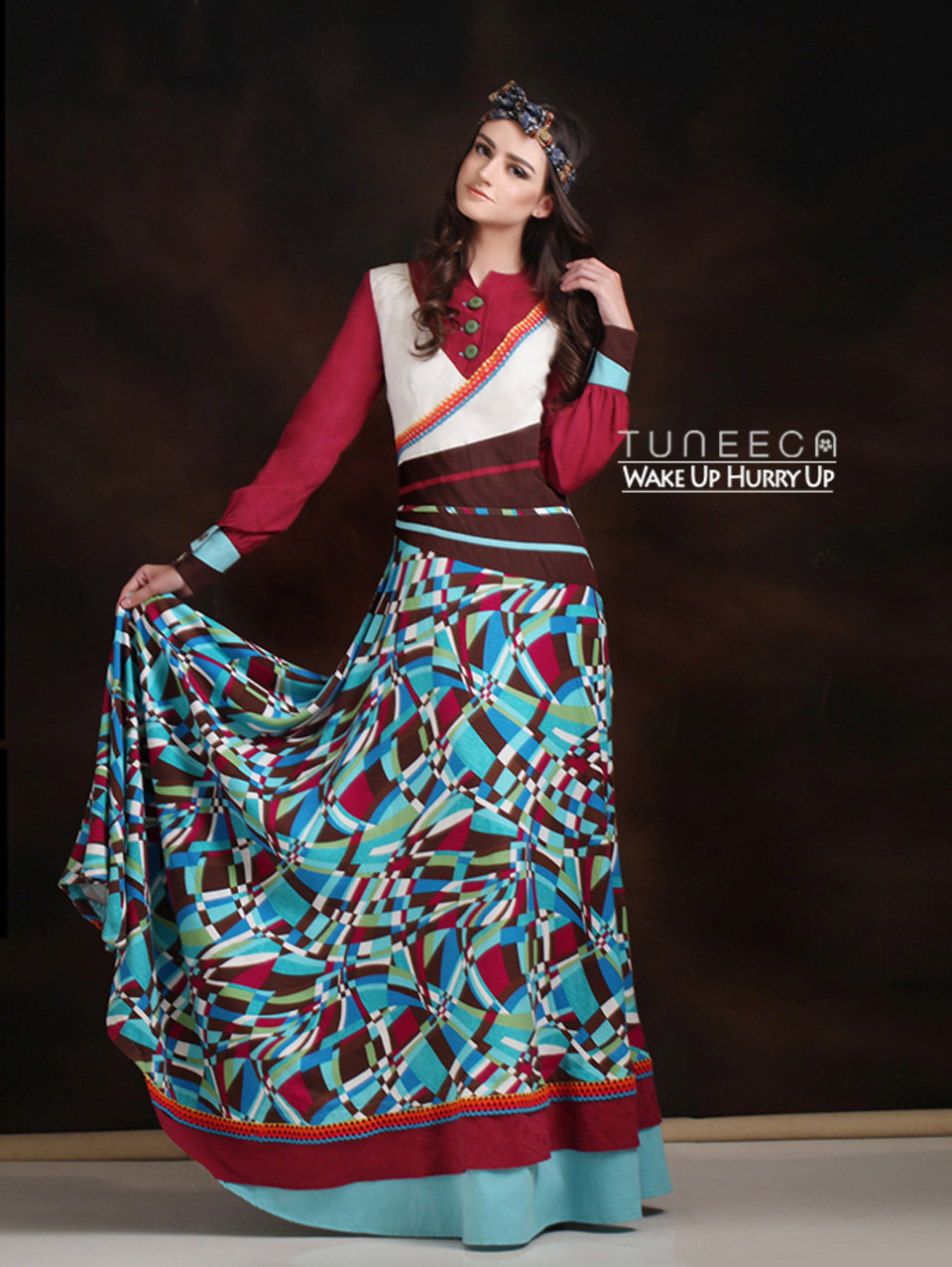 24 baju muslim motif geometric