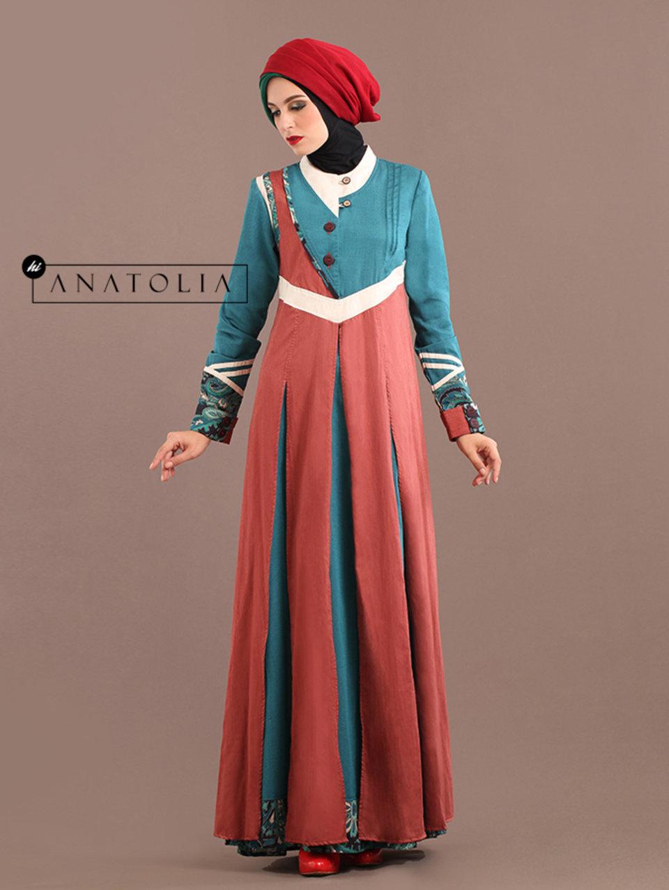 25 Abaya Modern Tosca Terracotta