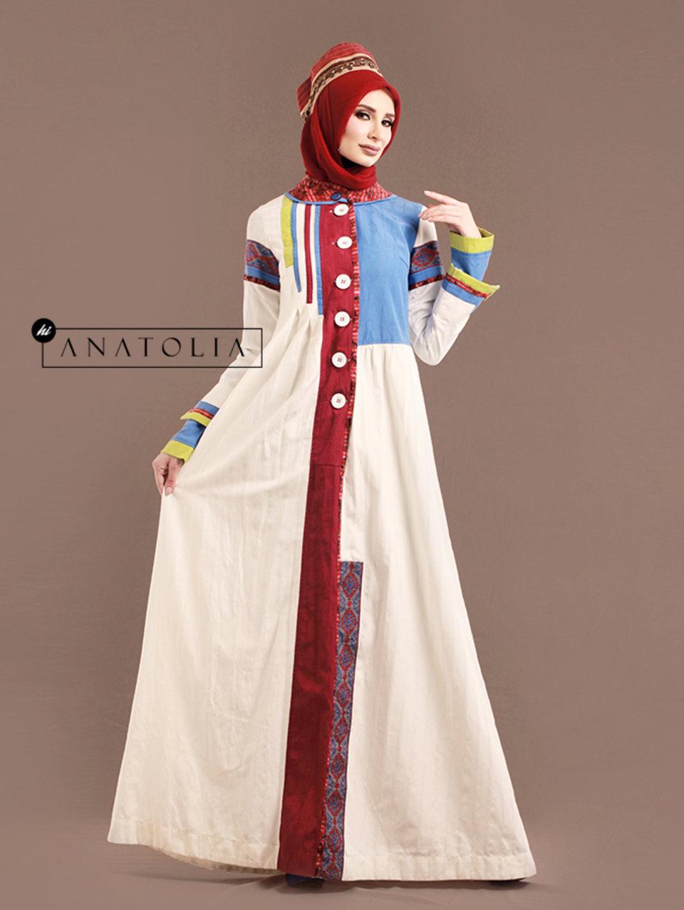 43 Abaya Dress Putih Elegan