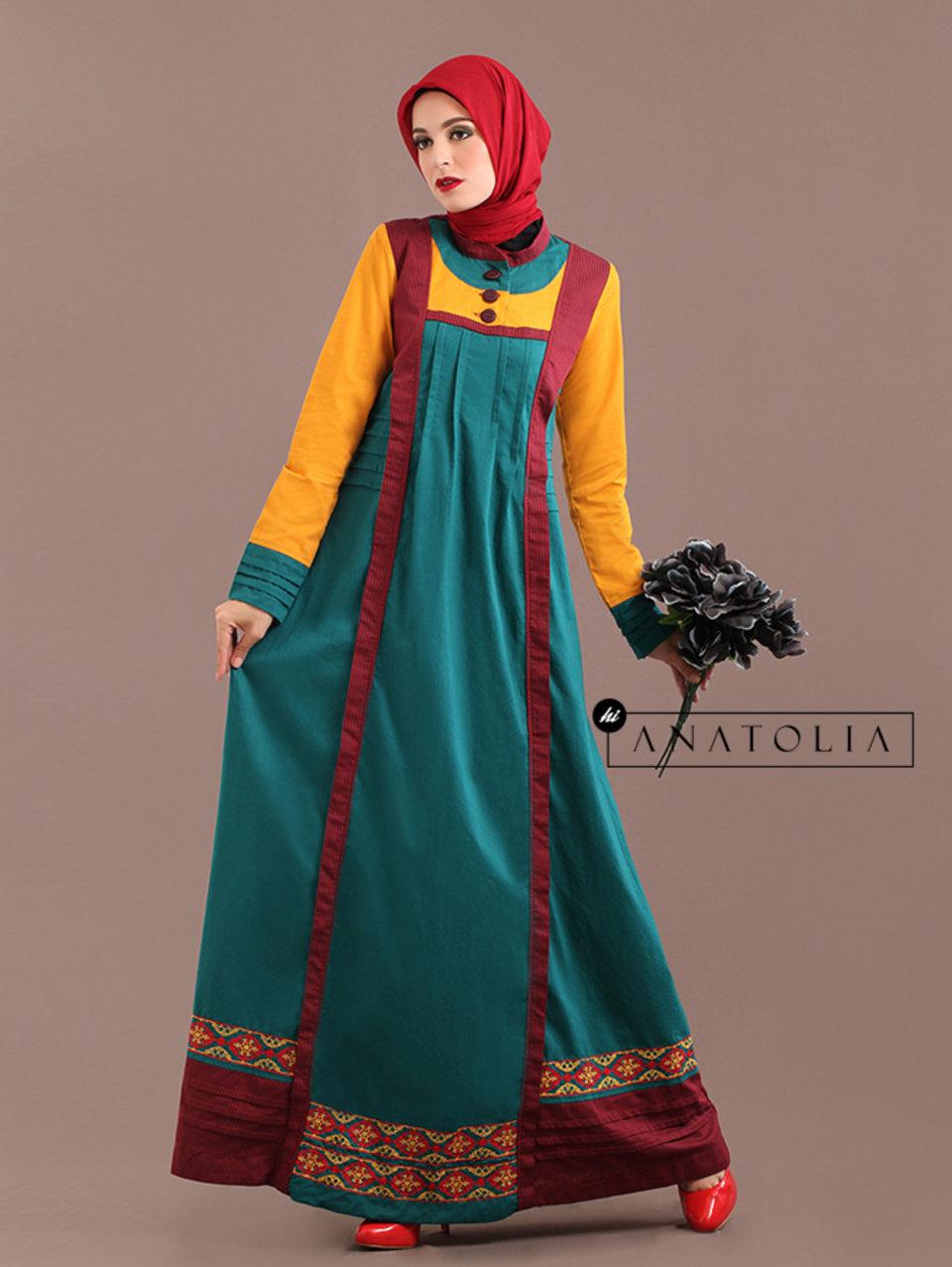 49 Abaya Dress Bordir Tosca