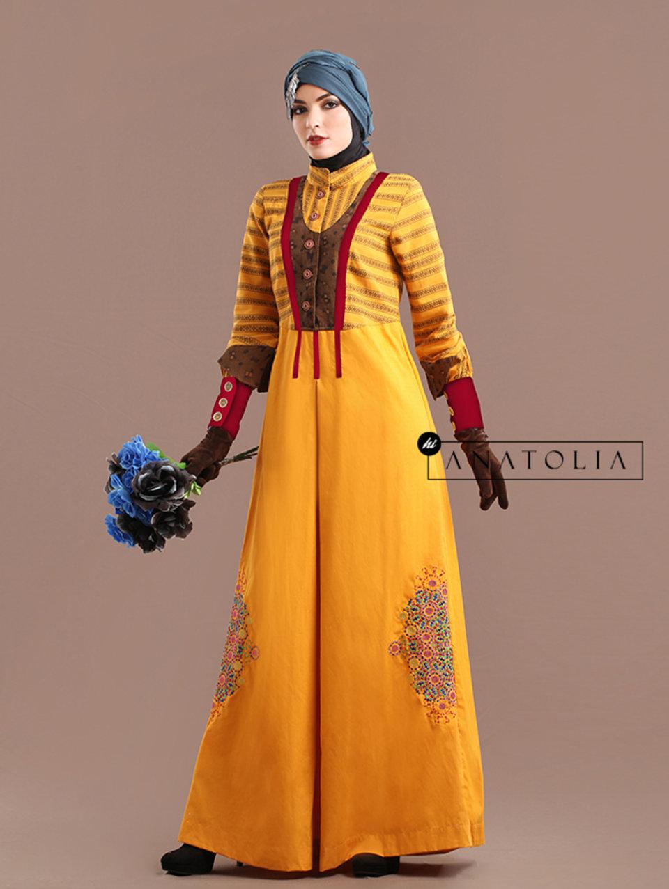 77 Long Dress Feminin Bordir
