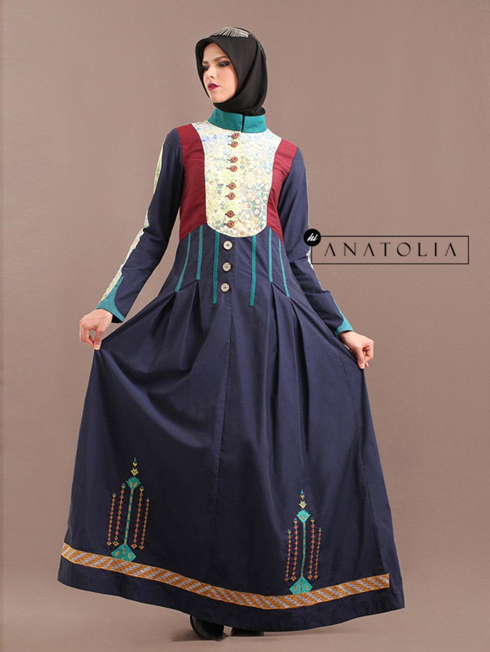 80 Abaya Dress Turki Navy