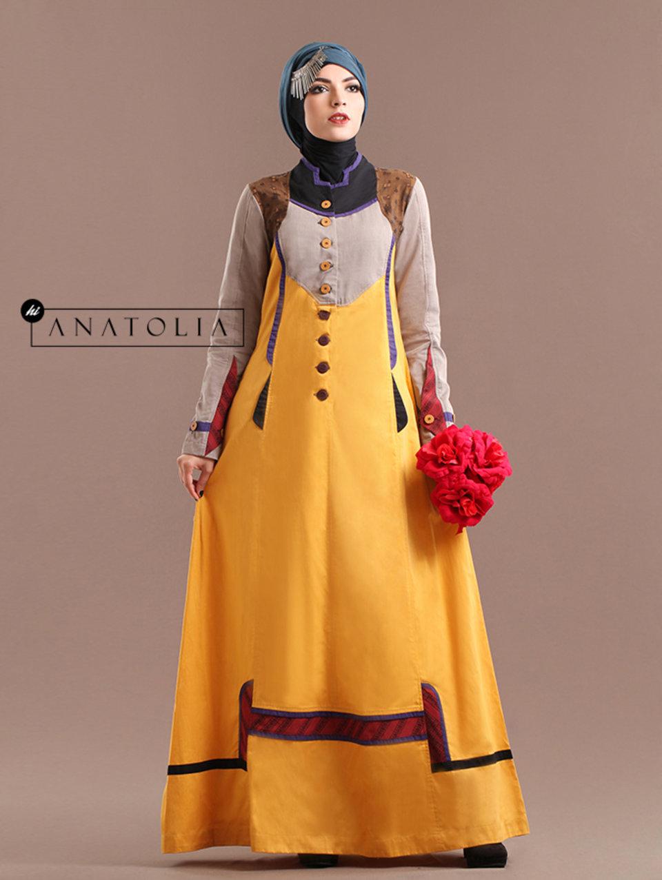 82 Abaya Modern Kuning