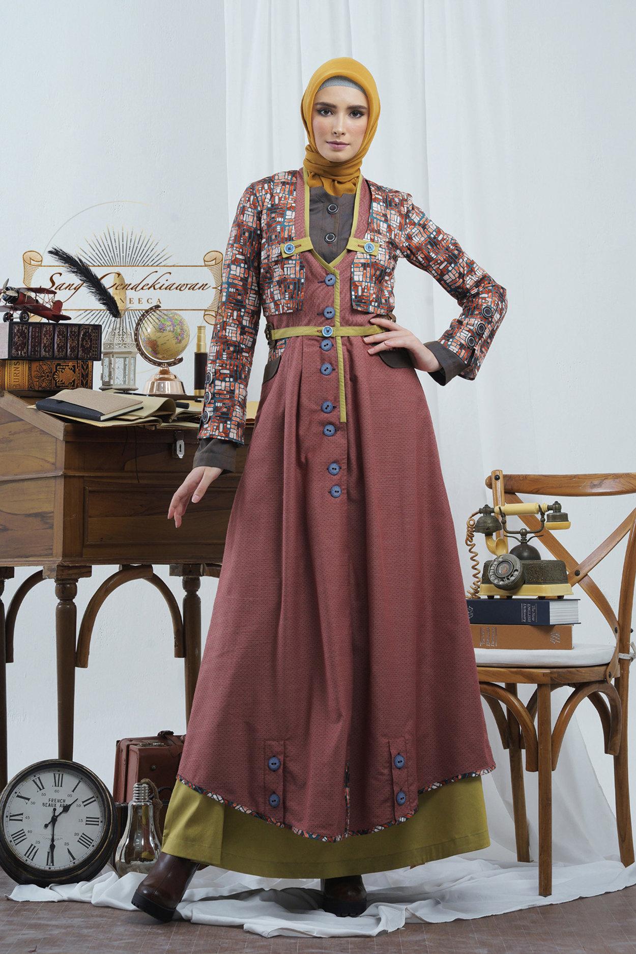 Alur Algebraist T 0619021 Gamis Long Dress Sang Cendikiawan Tuneeca