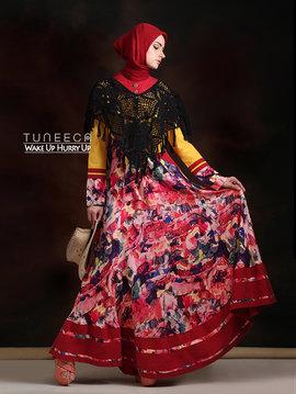01 Bohemian long dress muslim