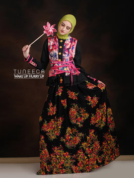 03 Long dress dress muslim flower