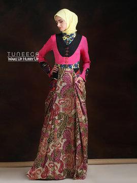 08 Long dress muslim pink pesta