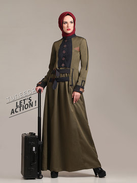 14 long dress muslim army