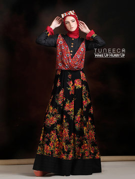 31 Long dress muslim elegan hitam