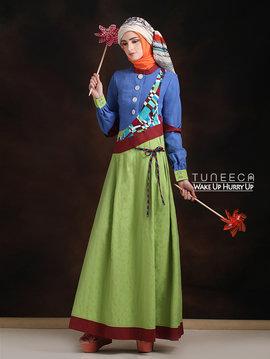 37 Baju muslim santai bohemian