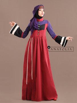 74 Abaya Modern Merah Ungu