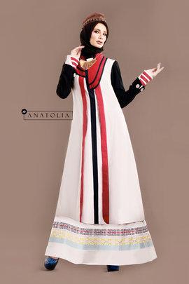 54 Long dress muslim putih