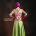 04 Long dress muslim hijau - belakang