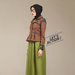 05 dress blazer muslim coklat - kiri