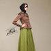 05 dress blazer muslim coklat - kanan