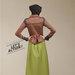 05 dress blazer muslim coklat - belakang