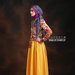 07 Long dress muslim motif geometric - kiri