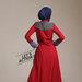 09 long coat dress muslim modis - belakang
