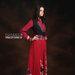 14 Long dress muslim merah bohemian - kiri