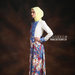 16 Long dress muslim pesta biru - kiri