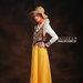 23 long dress muslim kuning - kiri