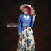 30 Long dress muslim bunga biru