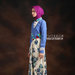 30 Long dress muslim bunga biru - kiri