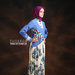 30 Long dress muslim bunga biru - kanan