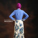30 Long dress muslim bunga biru - belakang