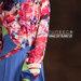 35 Gamis muslim warna biru pink - detail