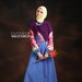35 Gamis muslim warna biru pink - b