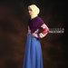 35 Gamis muslim warna biru pink - kiri