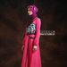 36 Baju muslim modis pink - kiri