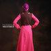 36 Baju muslim modis pink - belakang