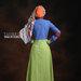 37 Baju muslim santai bohemian - belakang