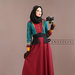75 Abaya Dress Bordir Maroon