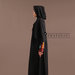 Abaya Dress Hitam Elegan - kiri