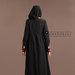 Abaya Dress Hitam Elegan - belakang