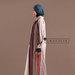 Abaya Jubah Simpel Elegan - kiri