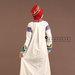 Abaya Dress Putih Elegan - belakang