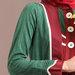 68 Abaya jubah merah hijau - detail