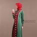 68 Abaya jubah merah hijau - kiri