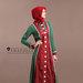 68 Abaya jubah merah hijau - kanan