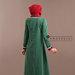 68 Abaya jubah merah hijau - belakang
