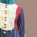 80 Abaya Dress Turki Navy - detail