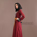 Abaya Modern Merah Kiri